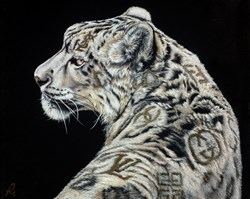 Designer Coat by Hayley Goodhead - Varnished Original Painting on Box Canvas sized 30x24 inches. Available from Whitewall Galleries